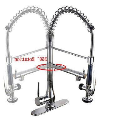Polished Chrome Spring Pre Rinse Commercial Pull Sprayer