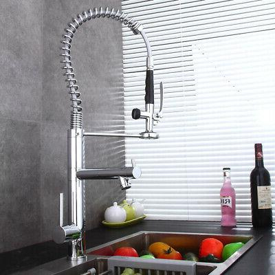 polished chrome spring kitchen pre rinse faucet