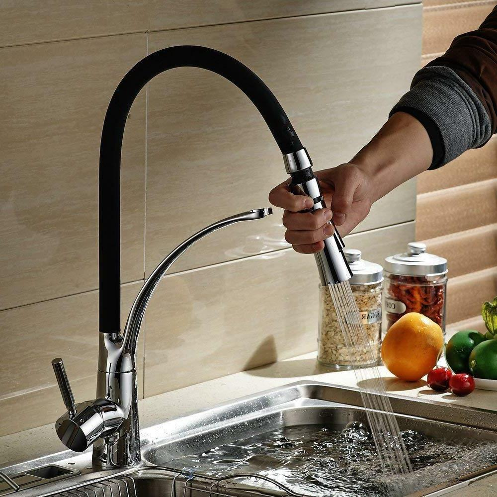 Pre-rinse Kitchen Faucets With Pull Down Sprayer and Flexibl