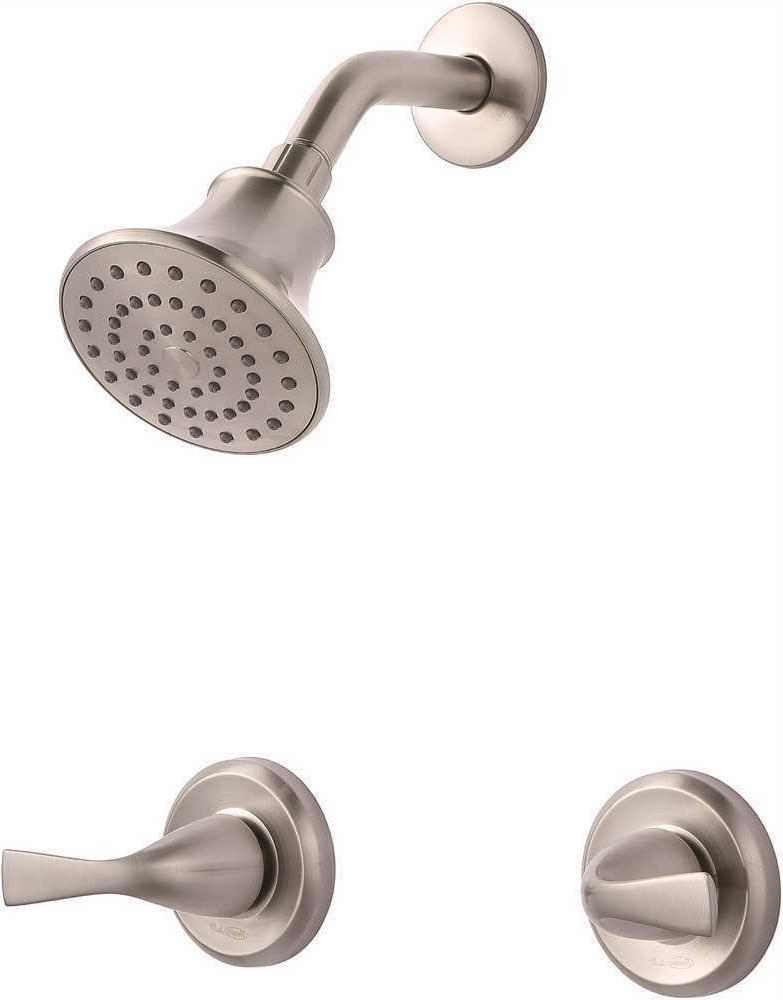 Premier Sanibel Shower-Only Faucet Set Two-Handle Brushed Ni