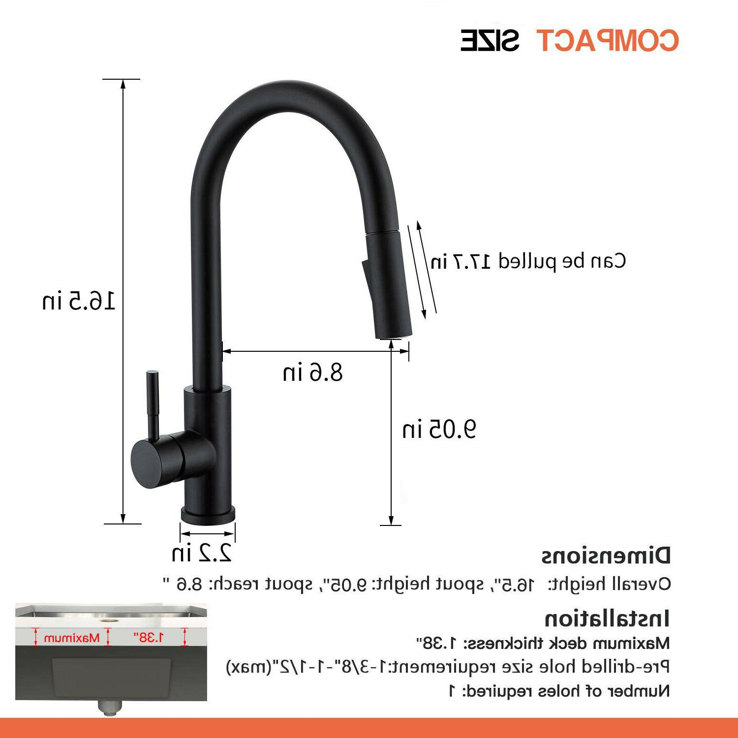 Sensor Touch Kitchen Faucet Pull