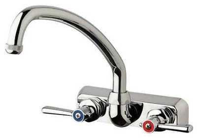 CHICAGO FAUCETS W4W-L9E1-369AB Swing Kitchen Faucet, Chrome,