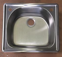 Elkay LCGR25222 Gourmet Stainless Steel Single Bowl Kitchen