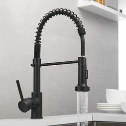 matte black kitchen faucet single handle pull