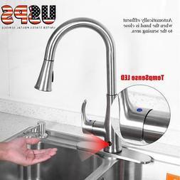 Motion Sense Touchless Kitchen Faucet Pull-Down Single Handl