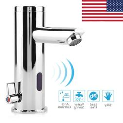 New Automatic Sensor Touchless Faucet Hands Free Bathroom Si