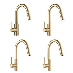 Kraus Oletto Single Handle Pull Down Kitchen Sink Faucet, Br