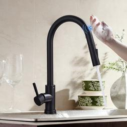 Touchless Kitchen Faucet Pull Down Sprayer Brushed Nickel Si