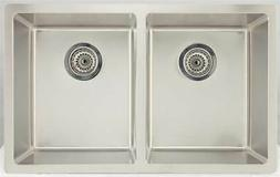 Rectangular Kitchen Sink for Deck Mount Faucet in Chrome