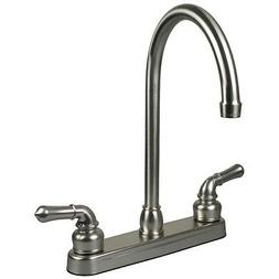 RV / Mobile Home Kitchen Sink Faucet, STAINLESS - 14.5 TALL