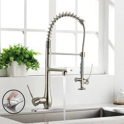 Single Handle Pull Down Kitchen Sink Faucet with Sprayer Bru