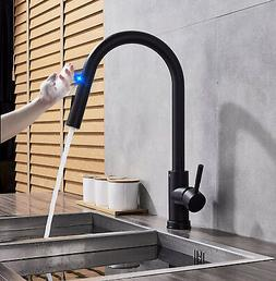 Single-Handle Touch Kitchen Sink Faucet with Pull Down Spray