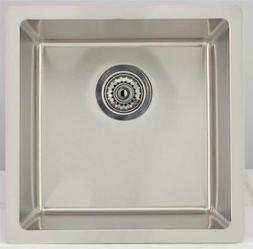 Square Kitchen Sink for Wall Mount Faucet in Chrome