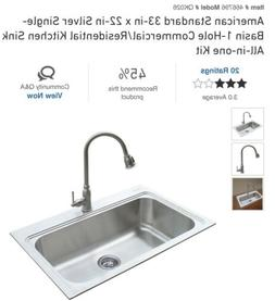 American Standard Stainless Steel Sink Kit With Brushed Nick