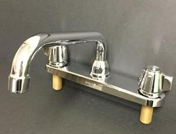 "Aspen Two Handle 8"" Metal Handle Centerset Kitchen Sink Fauc"