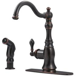 Ultra Faucets UF11245 Bronze Single Handle Kitchen Faucet Wi