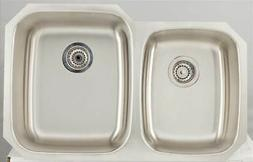 Unique Modern Kitchen Sink for Wall Mount Faucet in Chrome