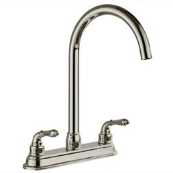Kitchen Faucet 2-Handle With Matching Side Spray Stainless S