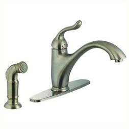 Yosemite 1-Handle Kitchen Faucet with Side Sprayer in Brushe